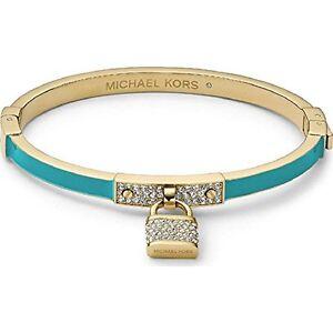 0101c6ce182199 Image is loading Michael-kors-gold-tone-turquoise-enamel-stone-bracelet-