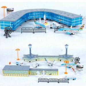 200PCS-Set-Airport-Playset-Airplane-Aircraft-Models-Assembled-Kid-Toys-Gifts
