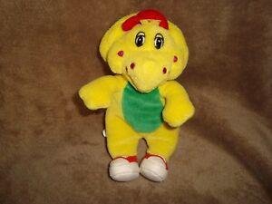 Details about Barney The Dinosaur's Friend B J Yellow dinosaur Plush  Beanbag 7
