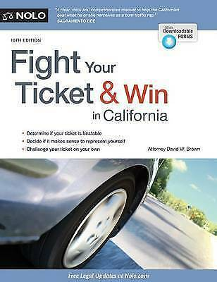 1 of 1 - Fight Your Ticket & Win in California by Brown, David W. -Paperback