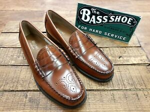 8eb9b96e1cf G. H. Bass   Co    Weejuns    Larson Brogues Loafer Mid Brown    NEW ...