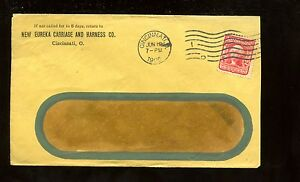 US-Farm-Related-Advertising-Cover-Carriage-amp-Harness-Co-1906-Cincinnati-Ohio