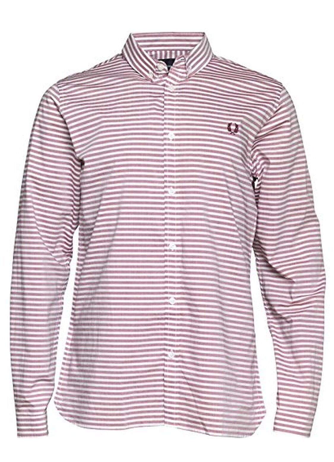 Fred Perry Horizontal Stripe Men's Long Sleeve Shirt M3273-106