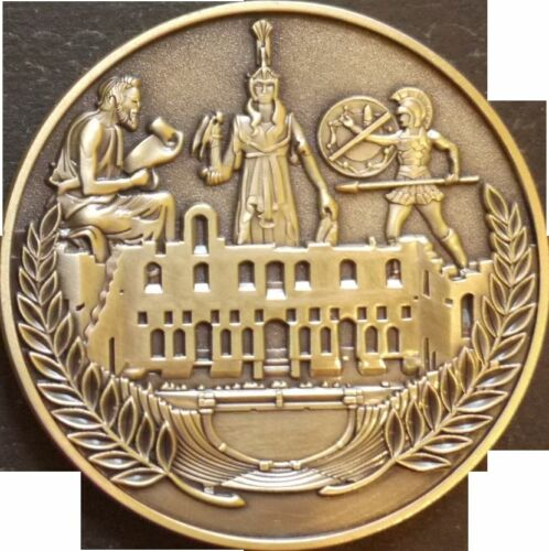 US Navy Athens Greece Challenge Coin Med Cruise CPO SIXTH FLEET Europe Liberty