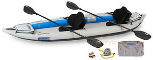 Sea-Eagle-385-Ft-Pro-Package-Inflatable-Fast-Track-Kayak-Paddles-Pump-Skeg