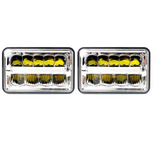 4/'/'x6/'/' 15 LED DOT CREE DRL Crystal Clear Sealed Multi Beam Headlight Universal