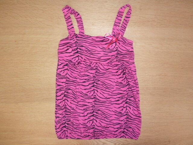 """madonna"" Sommer Top/shirt- Gr. Xs- Viscose+elasthan Pink-schwarz - Zebramuster Waren Jeder Beschreibung Sind VerfüGbar"