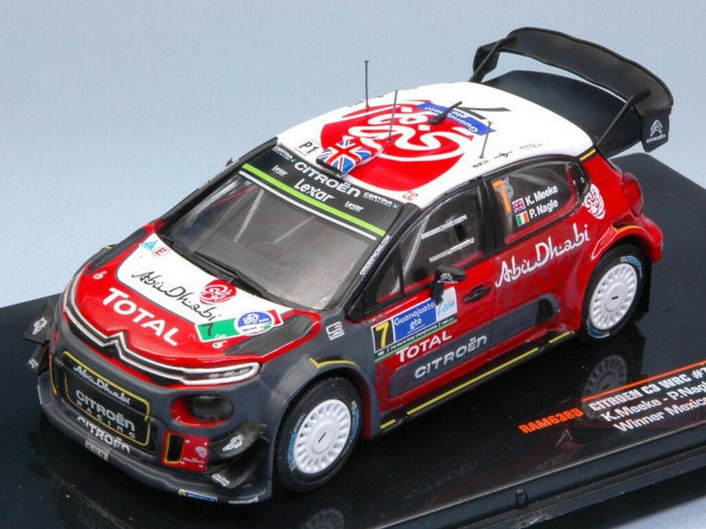 Ixo Models 1 43 RAM 638B Citroen C3 WRC  7 Winner Rally Mexico 2017 Meeke NEW
