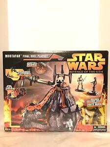 Star Wars La revanche du Sith Mustafar Ensemble de duel final avec W / Anakin & Obi Wan