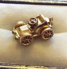 Lovely Quality Stamped Vintage 9ct Gold Old Motor Car Charm Or Pendant Superb