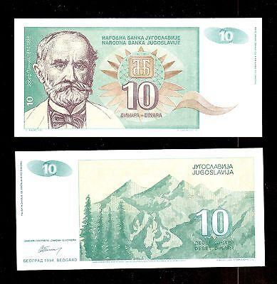 YUGOSLAVIA 10 DINARA 1994 P 138 UNC LOT 100 PCS 1 BUNDLE