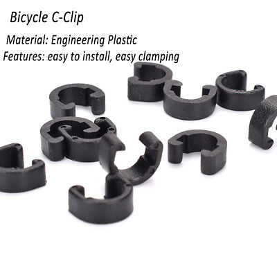 BicycleBrake Cable Guides Housing Hose C-Clips MTB BMX Road Mountain X10#@