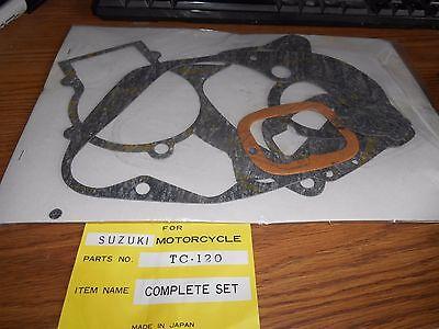 Suzuki TC 120 TC120 1971 Gasket Set Complete Nos