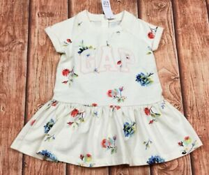 7afa70fd6 Details about Baby Gap Girls 12-18 Months Floral GAP Logo Dress With  Bloomers. Nwt