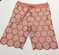 Tory Burch Ladies Crochet Shorts Coral Orange Size XS