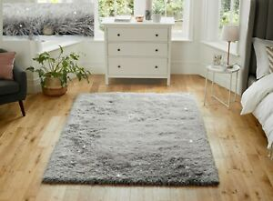 DAZZLE-SPARKLE-SPARKLY-SILVER-GREY-SILKY-THICK-LONG-PILE-GLITTER-SHAGGY-RUG