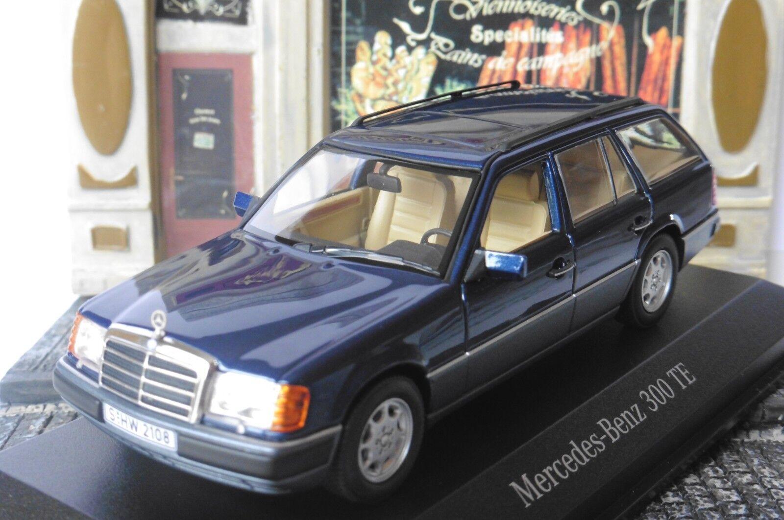 MERCEDES 300 TE BREAK NAUTIC bleu S124 1990 MINICHAMPS MINICHAMPS MINICHAMPS B66041029 1 43 SW bleu 693a56