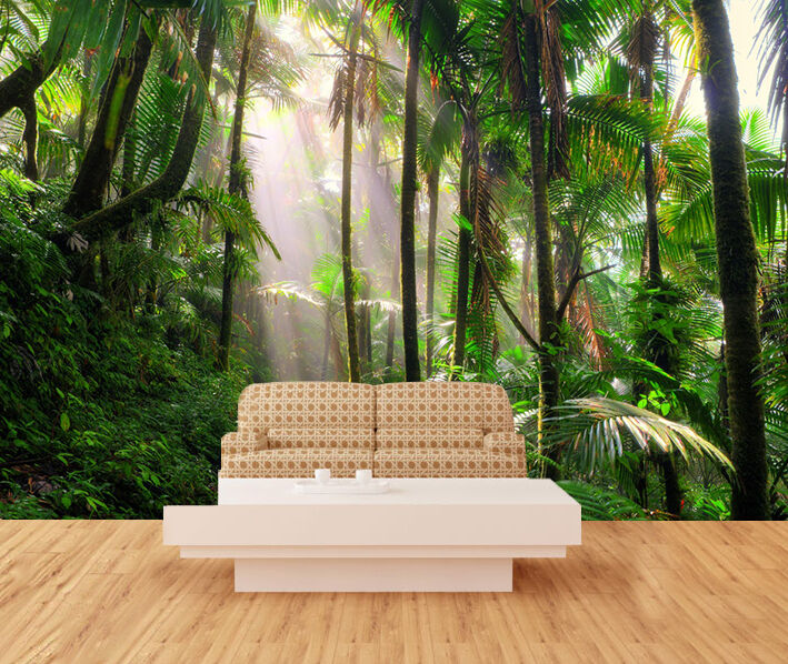 3D Shrub Forest 024 Wall Paper Wall Print Decal Wall Deco Indoor Wall