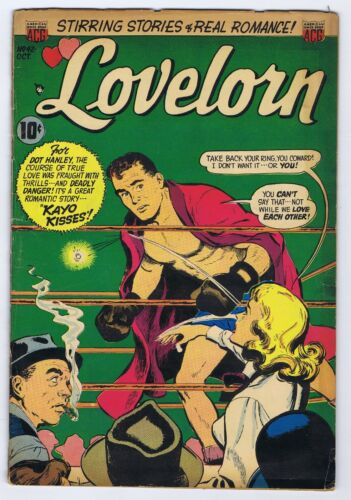 LOVELORN 42 3.5 4.0 NICE GLOSS NICE PAGES BOXING ROMANCE BE STN