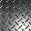 thumbnail 2 - CHECKER - PLATE RUBBER GARAGE FLOORING MATTING 1.3M WIDE X 3MM THICK - A GRADE