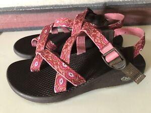Chaco-Z-2-Sport-Sandals-Pink-Textile-Shoes-Sz-9
