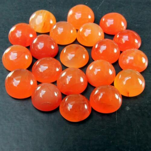 Wholesale Lot of 9mm to 12mm Round Damaged Carnelian Loose Calibrated Gemstone