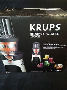 Krups Infinity Slow Juicer ZB500E Extractor Masticator - Complete in Box - Good