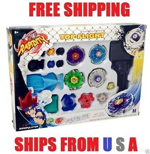 Metal Fusion fast Beyblade Masters Fight Launcher Rare Toy 4D *USA Seller*