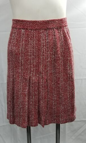 St John Size 2 Textured Tweed Knit Boucle Skirt Re