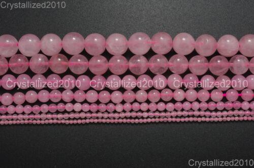Natural Rose Quartz Gemstone Round Beads 2mm 3mm 4mm 6mm 8mm 10mm 12mm 14mm 16''