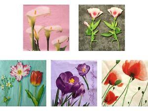 Servietten-Set-034-Flowers-3-034-20-St-5-versch-Blumenmotive-dreilagig-33x33-cm