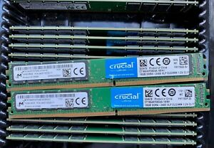 32GB-Crucial-Micron-TWO-16GB-PC4-19200-DDR4-2400-RAM-VLP-EUDIMM-CT16G4XFD824A
