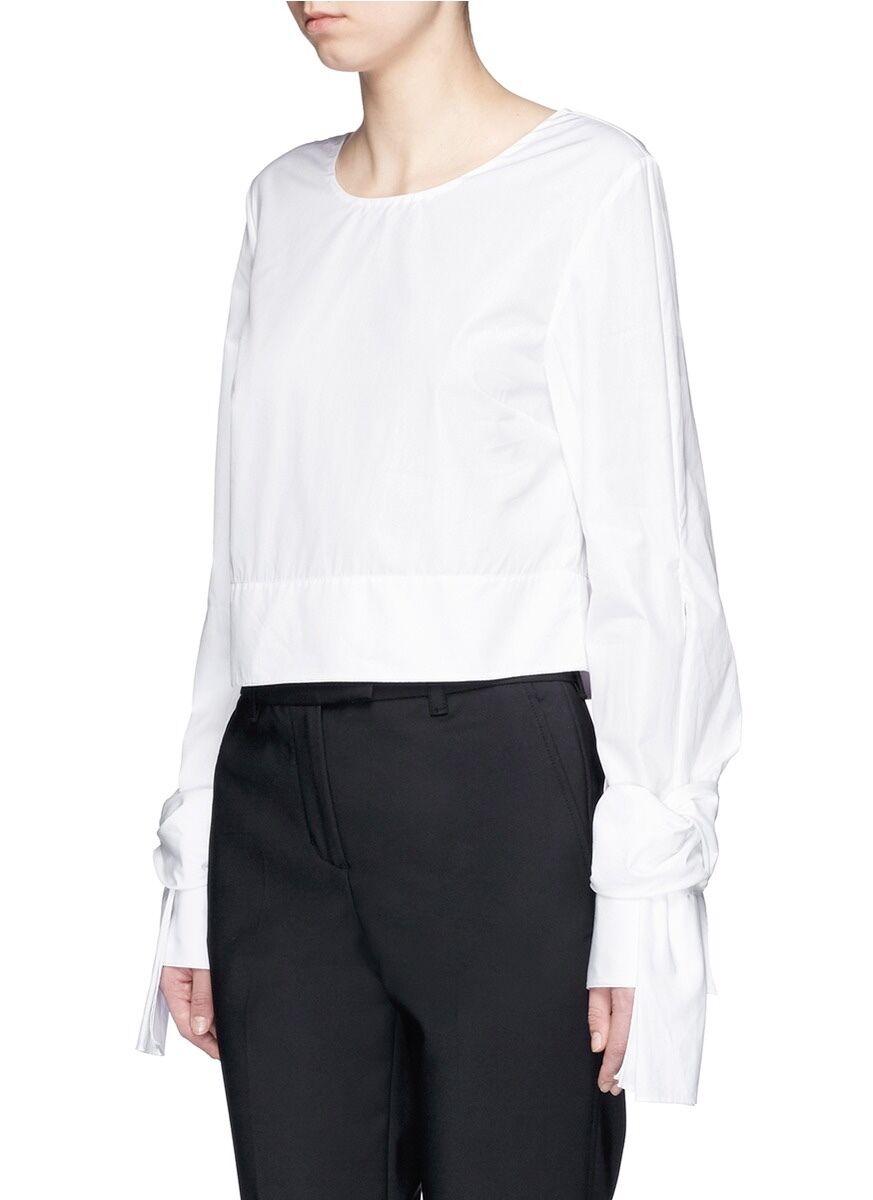 3.1 Philip Lim Tie Cuff Top WHITE Sz US 2   Small
