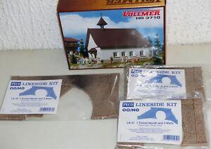 4x-Bausatz-H0-Vollmer-3710-Kapelle-2x-Peco-LK-31-LK-32-Tunnel-Portal-OVP-Neu