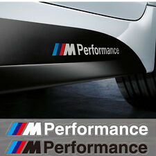 2 White BMW M Motorsport Performance Logo Decal/Badge/Sticker/Adhesive/M3/M5/M1