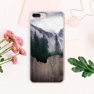 new style 91489 595c1 Details about Nature iPhone 6 6s Silicone Case Forest iPhone X Cover Wood  iPhone 7 8 Plus Skin