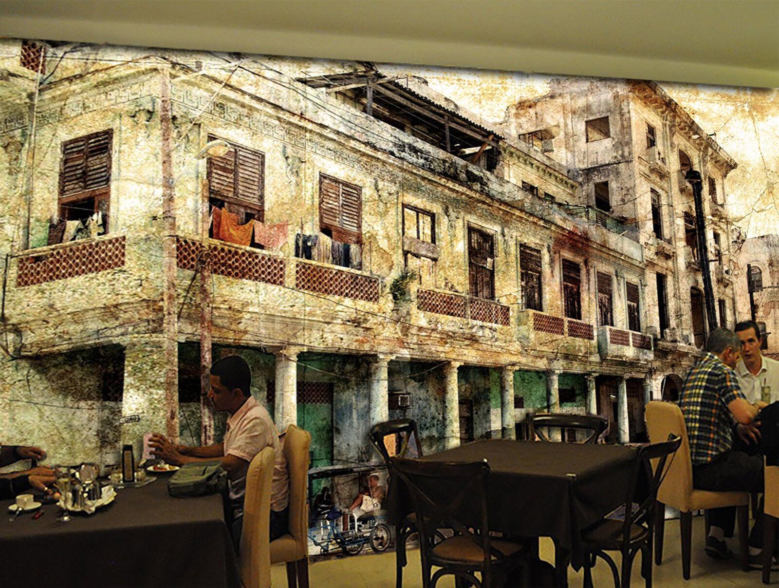 3D Street Old Houses 75 Wall Paper Murals Wall Print Wall Wallpaper Mural AU Kya
