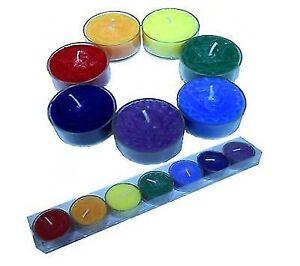 7er Set Chakra Duftteelichter Relief Chakra Teelicht Duft Chakra Farben