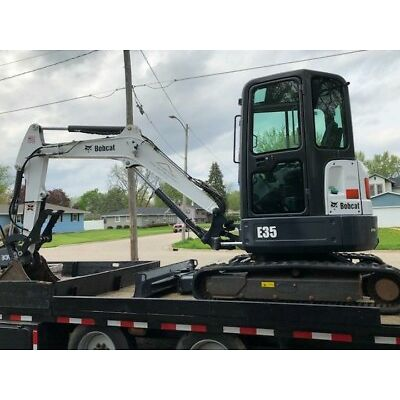 BOBCAT E32 E35 HYDRAULIC THUMB CLAMP GRAPPLE FACTORY STYLE PIN ON  AR400
