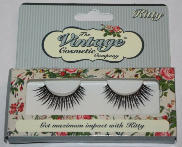 03a03f65fc8 The Vintage Cosmetic Company Kitty Re-usable False Eye Lashes | eBay