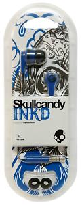 Skullcandy Ink'd 2 In-Ear Wired Headphones - Blue & Black Earbuds/Earphones