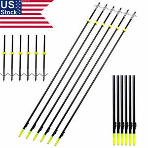 US-6PCS-35-034-33-034-Archery-Bow-Fishing-Arrow-w-Broadheads-Safety-Slides-OD6-8-Hunting