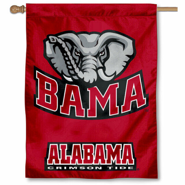 Alabama Crimson Tide Bama University College House Flag  3c85cda7ba22b