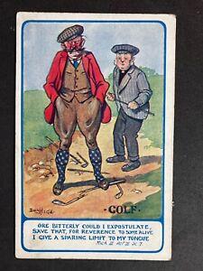 Vintage-Postcard-Artist-Signed-Donald-McGill-A733-Golf-No-276