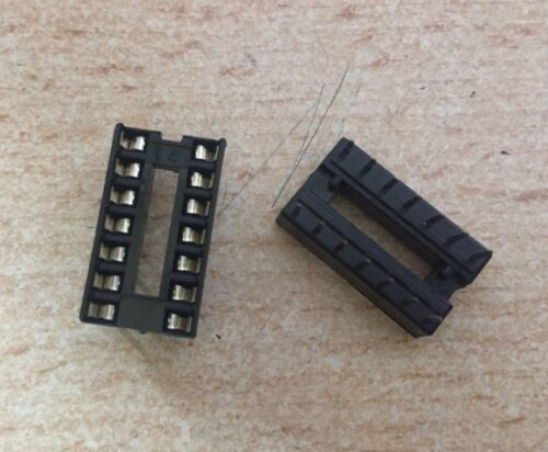 Terminal Pitch 2.54mm   2 pieces   HU304 Row Pitch 7.62mm DIL 14 Pin IC Socket