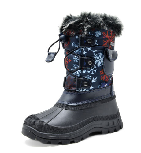 Kids Snow Boots Cold Weather Snow Boots Toddler-Big Kid Boys Girls