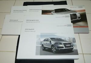 2010 audi q7 owners manual set 10 q 7 w case mmi navigation guide rh ebay co uk 2010 audi a4 user manual pdf 2010 audi a4 owners manual download