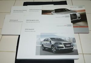2010 audi q7 owners manual set 10 q 7 w case mmi navigation guide rh ebay co uk Audi Q7 TDI 2014 Audi Q5