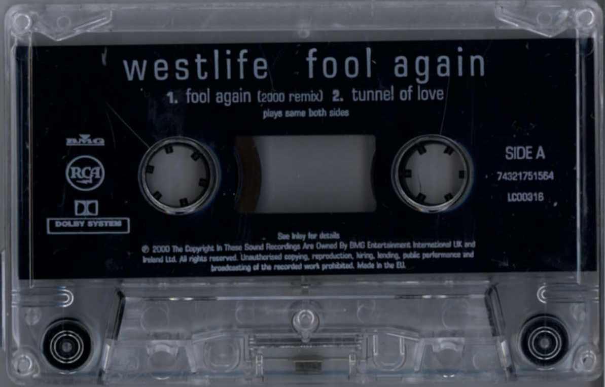 WESTLIFE - FOOL AGAIN (2000 REMIX) 2000 CASSINGLE CASSINGLE CASSINGLE cef8cd