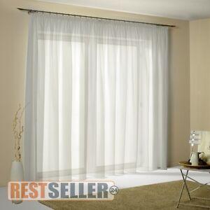 gardinen stores vorhang universalband langstore kr uselband voile transparent ebay. Black Bedroom Furniture Sets. Home Design Ideas